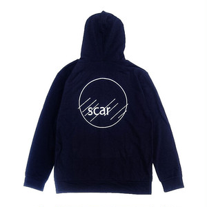 scar /////// CIRCLE LIGHT ZIP HOODIE (Navy)