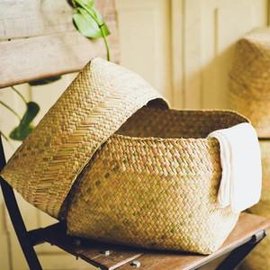 水草の蓋付きかご ボックス型