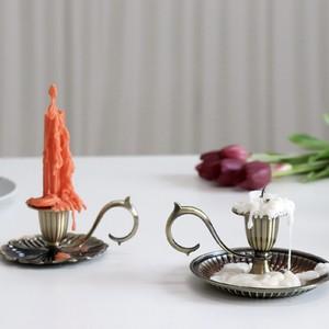 antique candle holder 2types / アンティーク ヴィンテージ ハンドル キャンドル ホルダー スタンド 韓国 北欧 雑貨