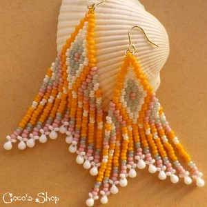 Hippie&Ethnic Fringe Pierce -ORANGE-