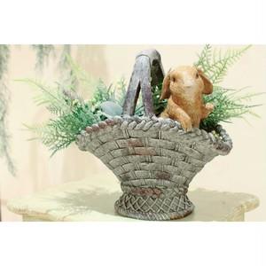 うさぎのバスケット鉢カバー:浜松雑貨屋 C0pernicus