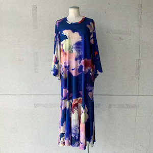 【HENRIK VIBSKOV】STREAM JERSEY DRESS /PAINTED CLOUDS/No.49-21-A