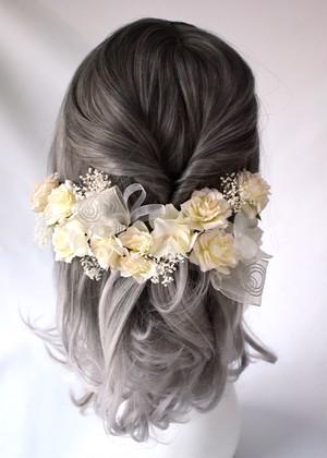 Headdress『off-white rose』20parts set