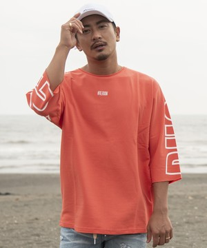 PHOTOGENIC OVER PRINT HALF SLEEVE SWEAT[REC208]
