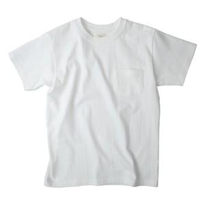 吊り編み 丸胴半袖ポケットTシャツ