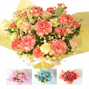 【色が選べる】スマイルバスケット季節の花使用