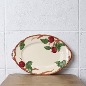 """FRANCISCAN""フランシスカン 80〜90年代 ヨーロッパ イギリス製 ヴィンテージ食器 ディッシュ フルーツ柄 陶器"