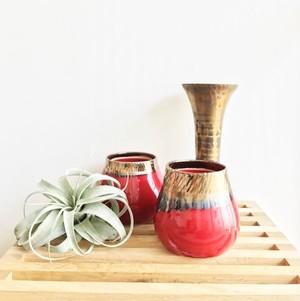 一点物 【Cristelle】ビジョンブラッドの花器  陶器