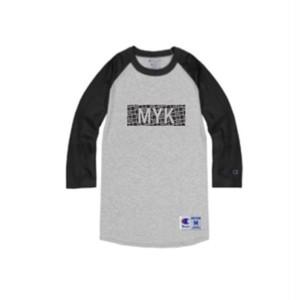 MYK box logo Champion raglan sleeves(gray)