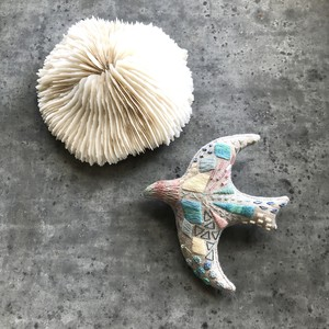 音の鳥ブローチ2 (ヒグチエリ)