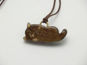 桂の猫ペンダント P1233