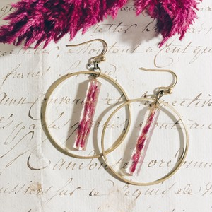 Mosaic earrings -Celosia pink-