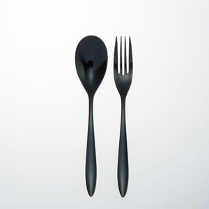 KOKU 木曽漆器のカトラリー:漆黒(しっこく)2本セット 黒