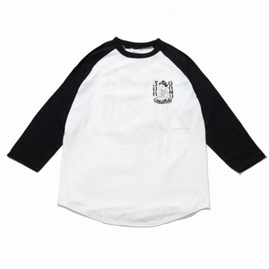 JUN GRAY RECORDS LOGO ラグランTシャツ (WHITE)