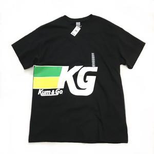 【NEW】Kum&Go  ガソリンスタンド ロゴ プリント 半袖 Tシャツ ブラック