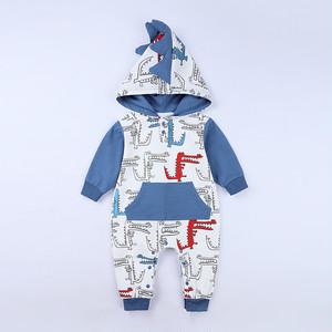 【子供服】恐竜プリントコットンベビー用オールインワン24304256