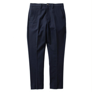 Name.【ネーム】STRETCH WOOL-GABARDINE STRAIGHT TROUSERS (NAVY)