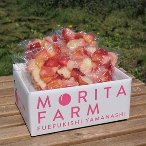 やまなしの冷凍桃 おうちで簡単スムージー! 半解凍してそのままシャーベット!