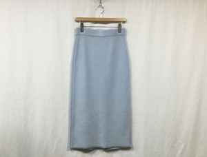 "HAKUJI "" W/Cash pencil skirt "" Light blue"