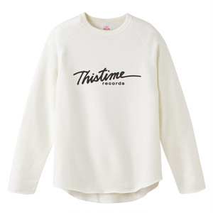 THISTIME cut off crewneck sweatshirt  【WHITE】