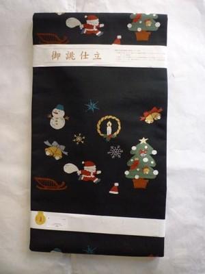 クリスマスの帯☆ベル・サンタ・ヒイラギ・トナカイ新品の名古屋帯