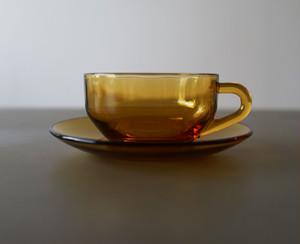 アデリアガラス ティーカップ&ソーサー・スプーンセット (006)