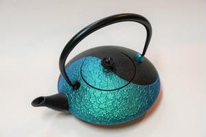 南部鉄器 鉄瓶 陰陽 翡翠(カワセミ) 0.75L