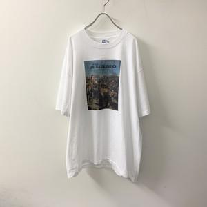 THE ALAMO プリントTシャツ ホワイト size XL USA製 メンズ 古着