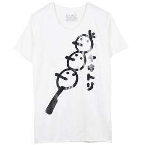 石垣もずく × OUKY コラボ Tシャツ ホワイト×ブラック A