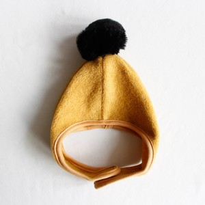 《chocolatesoup 2018AW》FLEECE POMPOM BONNNET / yellow