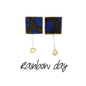 【ピアス】虹の日(ブルー)
