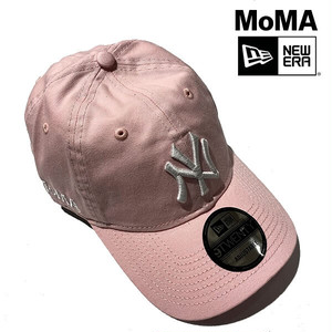 【ニューヨーク MoMA!】MoMA Design NY Yankees ヤンキース ニューエラ MoMA限定キャップ Pink【moma001-blue】