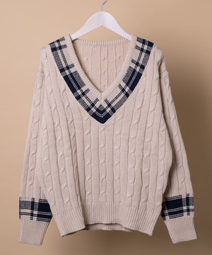 CHECKER V KNIT < VN006 >