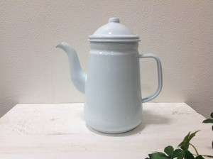 ホーロー コーヒーポット  ホワイト