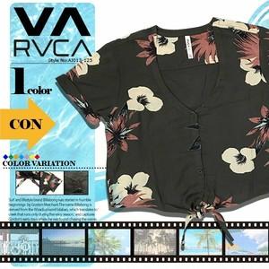 AJ043-125 ルーカ レディース BLAST IT ショートスリーブシャツ 前結び 半袖シャツ 海 夏 RVCA