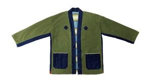 19AW 硫化染め刺し子&メキシカンラグリバーシブルキモノジャケット / Sulfide dyeing sashiko & Mexican rag reversible kimono jacket