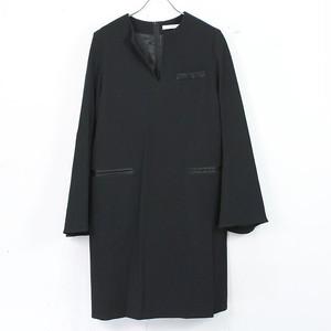 【美品】CINOH / チノ | 袖フレア 裾スリットワンピース | 38 | ブラック | レディース