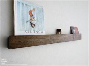 チーク材 ウォールシェルフ角WM88cm 無垢 壁掛収納 ラック 真鍮 壁掛けハンガー 収納棚 木製 天然木 手作り 手作り 総無垢 幅88cm