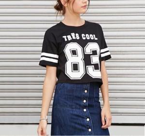 半袖 83 Tシャツ ナンバー 春夏 数字 重ね着