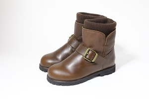 knit rib engineer boots(dark brown)
