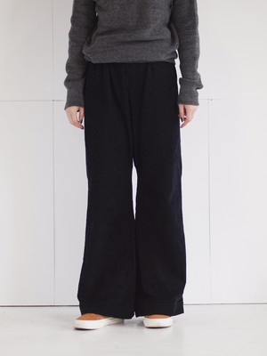 Corduroy color wide pants/E