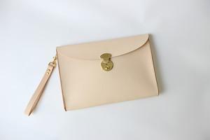 JAPAN LANSUI DESIGN 名入れ対応 ヌメ革手作り手縫い iPad Pro MacBook クラッチバッグ 品番NBVJD9DSF3
