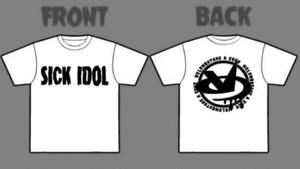 SICK IDOL Tシャツ 白ver.