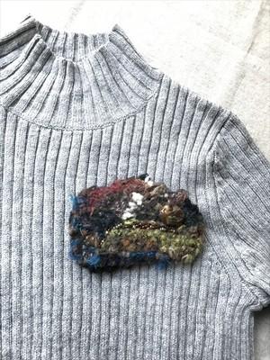 手織りブローチ2