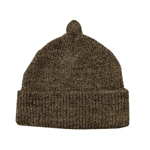 NOROLL / GERMINATE SOLID BEANIE -BROWN-