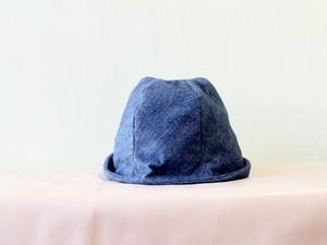 FUWA KIMOU HELMA HAT 杢調フランネルコットン*ブルー【M59/L61】