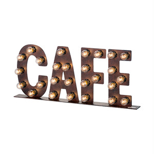 [AW-0405V]CAFE sign サイン / ヴィンテージ / アメリカン / アイアン