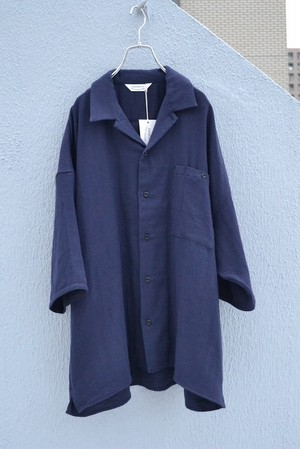 roundabout / S/S Triple Gauze Wide Shirt