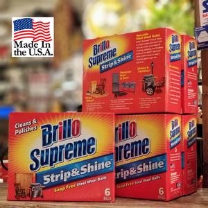 Brillo Supreme アメリカ製 洗剤付きタワシ