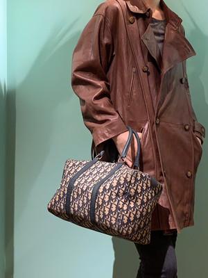 ヴィンテージ 「Dior】トロッター ボストンバッグ1221BO